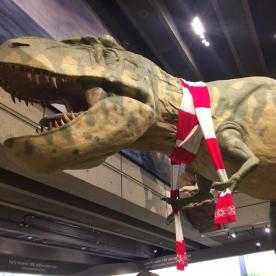T-Rex celebrates X-Mas